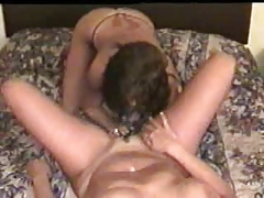 My horny wife had muff gobbled by girl-on-girl friend. Fledgling