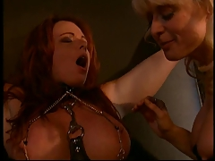 Nina Hartley and a  boobs redhead into bondage and Domination & submission