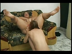 Plumper Latina getting her Pussy-Ass ate by her Girl-on-girl GF-P1