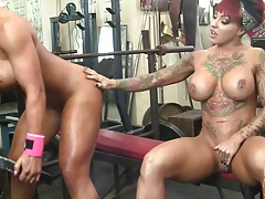 Dani Andrews and Megan Avalon Muscle Lesbos