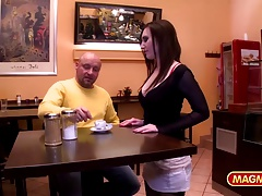 MAGMA FILM Public Banging German Stunner in restaurant
