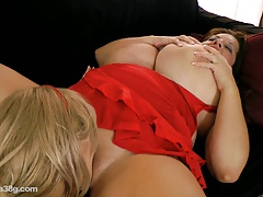 Maria Moore and Samantha 38G  Each Others Breasts N