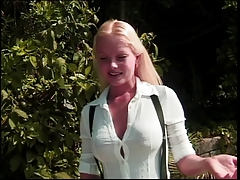 Stunning all girl honey grope her  rump by the pool side with
