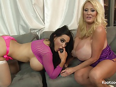 Amy Anderssen and Kayla Kleevage taunt the camera