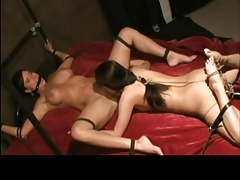 Girly-girl Restrain bondage With Oral-Denial