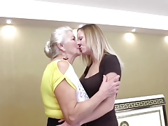 Old 72y  and Youthfull 29y Lesbians