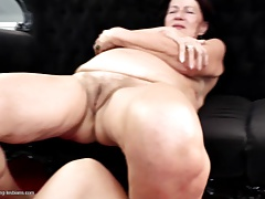 Real granny plumbed by 2 youthful femmes taboo