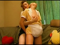 The redhead and tyhe ash-blonde maid