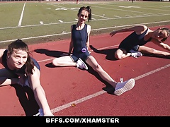 BFFS - Track Gals Penetrate Each Other After