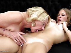 Granny eats and screws  sapphic female