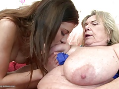 Grannies and moms boink youthful girl/girl meat