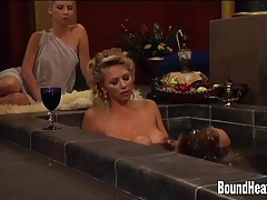 Huge-boobed All girl Madame And Ginormous Breast Subs In Lovemaking