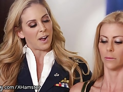 Girlsway Alexis Fawx Slapped by Officer Cherie
