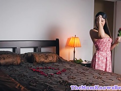Lesbo stepmom surprises teenager for taboo fuck-a-thon