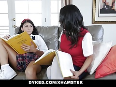 Dyked - Diminutive Teen  & Drilled By Tutor