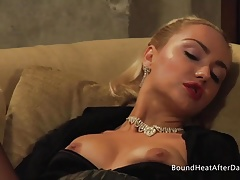Dominatrix And Handmaiden: Wet Trimmed Snatch Ejaculating Hard