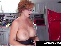 Texas Cougar Deauxma Pays Big-titted Mechanic Brooke Tyler w Sex!