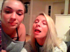 Lesbo  takes care of blondie mature